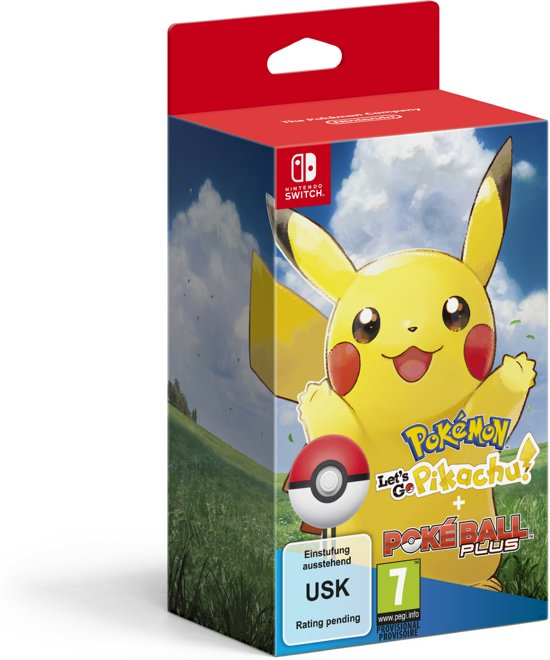 pokemon lets go pikachu + pokeball bundel